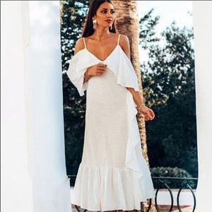 Brand new with tags Zara rustic ruffle dress. M